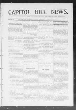 Primary view of object titled 'Capitol Hill News. (Capitol Hill, Okla.), Vol. 2, No. 20, Ed. 1 Thursday, January 17, 1907'.