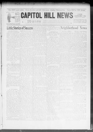 Primary view of object titled 'Capitol Hill News (Capitol Hill, Okla.), Vol. 3, No. 38, Ed. 1 Wednesday, June 10, 1908'.