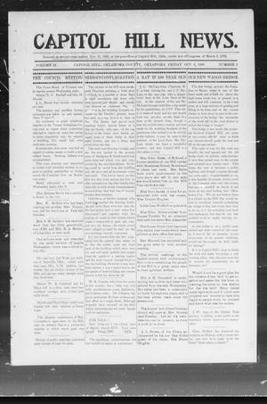 Primary view of object titled 'Capitol Hill News. (Capitol Hill, Okla.), Vol. 2, No. 5, Ed. 1 Friday, October 5, 1906'.