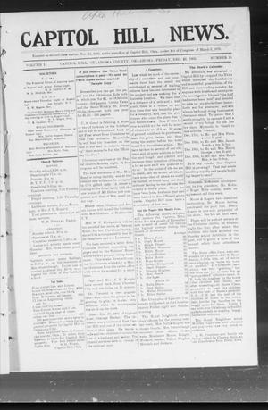 Primary view of object titled 'Capitol Hill News. (Capitol Hill, Okla.), Vol. 1, No. 15, Ed. 1 Friday, December 22, 1905'.