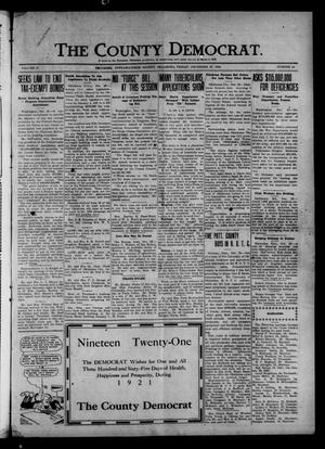 Primary view of object titled 'The County Democrat. (Tecumseh, Okla.), Vol. 27, No. 14, Ed. 1 Friday, December 31, 1920'.