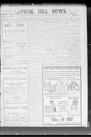 Primary view of object titled 'Capitol Hill News. (Capitol Hill, Okla.), Vol. 3, No. 3, Ed. 1 Friday, September 20, 1907'.