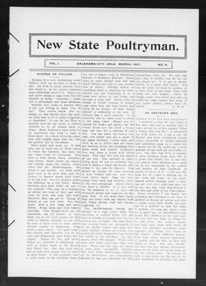 Primary view of object titled 'New State Poultryman. (Oklahoma City, Okla.), Vol. 1, No. 8, Ed. 1 Friday, March 1, 1907'.