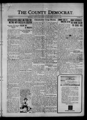 Primary view of object titled 'The County Democrat. (Tecumseh, Okla.), Vol. 27, No. 17, Ed. 1 Friday, January 21, 1921'.