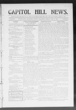 Primary view of object titled 'Capitol Hill News. (Capitol Hill, Okla.), Vol. 1, No. 41, Ed. 1 Friday, June 15, 1906'.