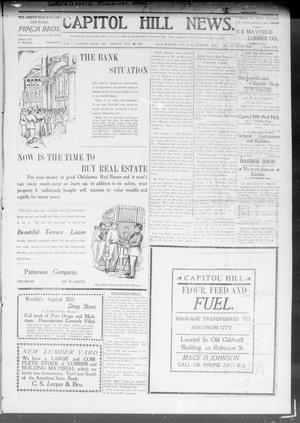 Primary view of object titled 'Capitol Hill News. (Capitol Hill, Okla.), Vol. 3, No. 11, Ed. 1 Friday, November 15, 1907'.