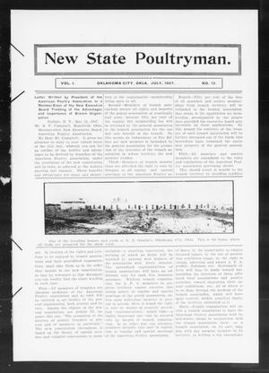 Primary view of object titled 'New State Poultryman. (Oklahoma City, Okla.), Vol. 1, No. 12, Ed. 1 Monday, July 1, 1907'.