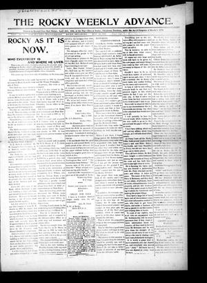 Primary view of object titled 'The Rocky Weekly Advance. (Rocky, Okla.), Vol. 3, No. 4, Ed. 1 Thursday, May 14, 1908'.