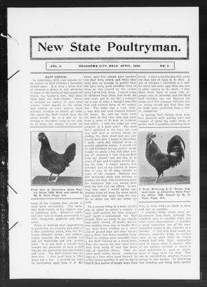 Primary view of object titled 'New State Poultryman. (Oklahoma City, Okla.), Vol. 2, No. 9, Ed. 1 Wednesday, April 1, 1908'.