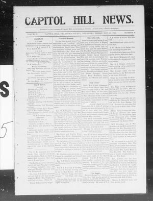 Primary view of object titled 'Capitol Hill News. (Capitol Hill, Okla.), Vol. 1, No. 9, Ed. 1 Friday, November 10, 1905'.