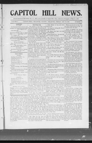 Primary view of object titled 'Capitol Hill News. (Capitol Hill, Okla.), Vol. 1, No. 20, Ed. 1 Friday, January 26, 1906'.