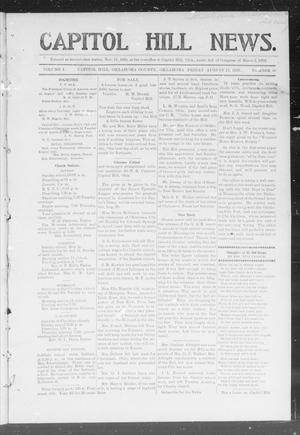Primary view of object titled 'Capitol Hill News. (Capitol Hill, Okla.), Vol. 1, No. 50, Ed. 1 Friday, August 17, 1906'.