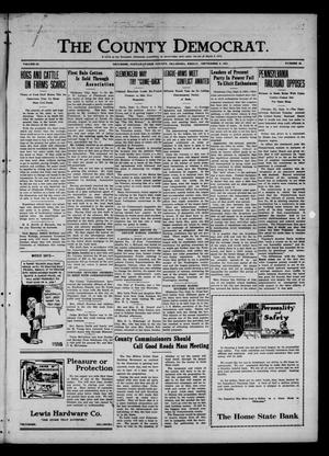 Primary view of object titled 'The County Democrat. (Tecumseh, Okla.), Vol. 27, No. 49, Ed. 1 Friday, September 9, 1921'.