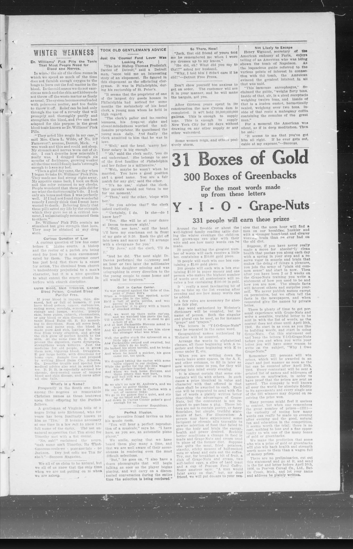 Capitol Hill News. (Capitol Hill, Okla.), Vol. 1, No. 22, Ed. 1 Friday, February 9, 1906                                                                                                      [Sequence #]: 3 of 8