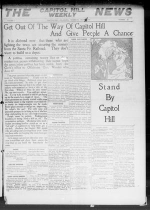 Primary view of object titled 'The Capitol Hill Weekly News (Capitol Hill, Okla.), Vol. 5, No. 10, Ed. 1 Thursday, November 25, 1909'.