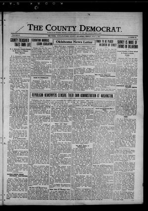 Primary view of object titled 'The County Democrat. (Tecumseh, Okla.), Vol. 27, No. 39, Ed. 1 Friday, July 1, 1921'.