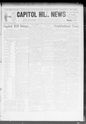 Primary view of object titled 'Capitol Hill News (Capitol Hill, Okla.), Vol. 3, No. 34, Ed. 1 Wednesday, May 13, 1908'.