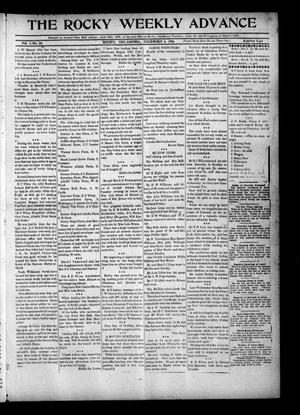 Primary view of object titled 'The Rocky Weekly Advance (Rocky, Okla.), Vol. 1, No. 33, Ed. 1 Thursday, December 6, 1906'.