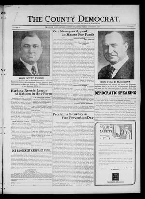 Primary view of object titled 'The County Democrat. (Tecumseh, Okla.), Vol. 27, No. 2, Ed. 1 Friday, October 8, 1920'.