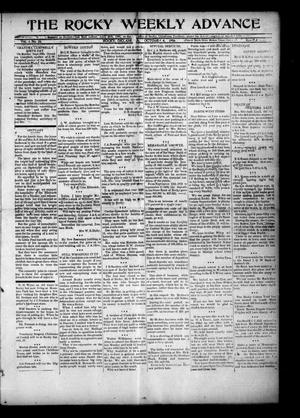 Primary view of object titled 'The Rocky Weekly Advance (Rocky, Okla.), Vol. 1, No. 24, Ed. 1 Thursday, October 4, 1906'.