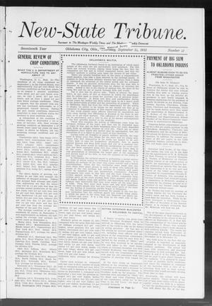 Primary view of object titled 'New-State Tribune. (Oklahoma City, Okla.), Vol. 17, No. 42, Ed. 1 Thursday, September 14, 1911'.