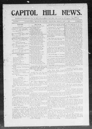 Primary view of object titled 'Capitol Hill News. (Capitol Hill, Okla.), Vol. 1, No. 17, Ed. 1 Friday, January 5, 1906'.