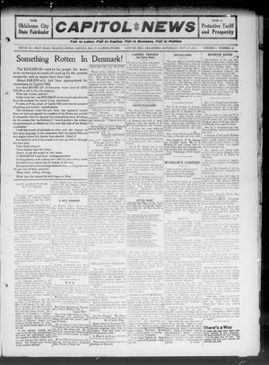 Primary view of object titled 'Capitol Hill News (Capitol Hill, Okla.), Vol. 6, No. 43, Ed. 1 Saturday, July 29, 1911'.