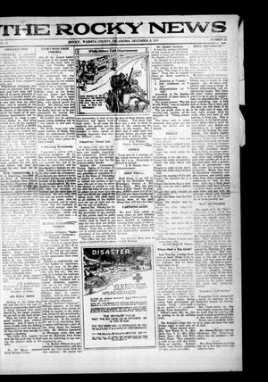 Primary view of object titled 'The Rocky News (Rocky, Okla.), Vol. 17, No. 22, Ed. 1 Thursday, December 8, 1921'.