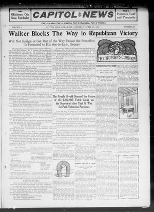 Primary view of object titled 'Capitol Hill News (Capitol Hill, Okla.), Vol. 6, No. 29, Ed. 1 Saturday, April 22, 1911'.