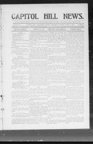 Primary view of object titled 'Capitol Hill News. (Capitol Hill, Okla.), Vol. 2, No. 4, Ed. 1 Friday, September 28, 1906'.