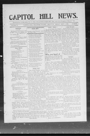 Primary view of object titled 'Capitol Hill News. (Capitol Hill, Okla.), Vol. 2, No. 1, Ed. 1 Friday, September 7, 1906'.