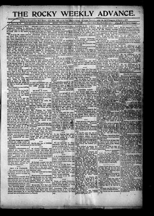 Primary view of object titled 'The Rocky Weekly Advance. (Rocky, Okla.), Vol. 1, No. 51, Ed. 1 Thursday, April 11, 1907'.