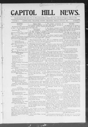 Primary view of object titled 'Capitol Hill News. (Capitol Hill, Okla.), Vol. 1, No. 47, Ed. 1 Friday, July 27, 1906'.