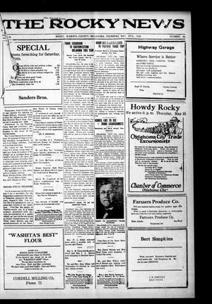 Primary view of The Rocky News (Rocky, Okla.), Vol. 19, No. 45, Ed. 1 Thursday, May 8, 1924