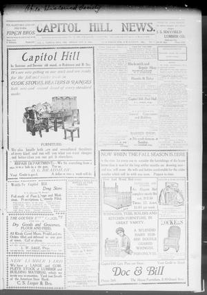 Primary view of object titled 'Capitol Hill News. (Capitol Hill, Okla.), Vol. 3, No. 6, Ed. 1 Friday, October 11, 1907'.