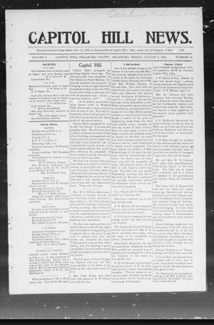 Primary view of object titled 'Capitol Hill News. (Capitol Hill, Okla.), Vol. 1, No. 48, Ed. 1 Friday, August 3, 1906'.