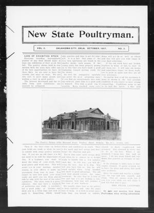 Primary view of object titled 'New State Poultryman. (Oklahoma City, Okla.), Vol. 2, No. 3, Ed. 1 Tuesday, October 1, 1907'.