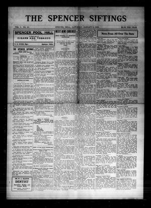 Primary view of The Spencer Siftings (Spencer, Okla.), Vol. 1, No. 41, Ed. 1 Saturday, January 2, 1909