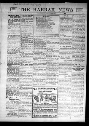 Primary view of object titled 'The Harrah News (Harrah, Okla.), Vol. 6, No. 35, Ed. 1 Friday, October 8, 1915'.