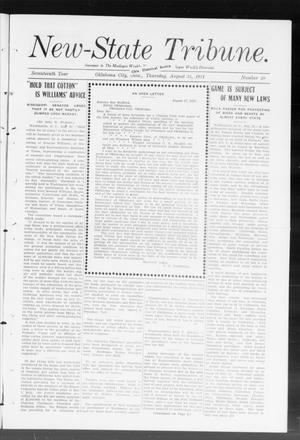Primary view of object titled 'New-State Tribune. (Oklahoma City, Okla.), Vol. 17, No. 40, Ed. 1 Thursday, August 31, 1911'.