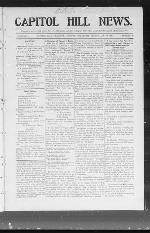 Primary view of object titled 'Capitol Hill News. (Capitol Hill, Okla.), Vol. 1, No. 18, Ed. 1 Friday, January 12, 1906'.