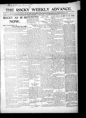 Primary view of object titled 'The Rocky Weekly Advance. (Rocky, Okla.), Vol. 3, No. 2, Ed. 1 Thursday, April 30, 1908'.