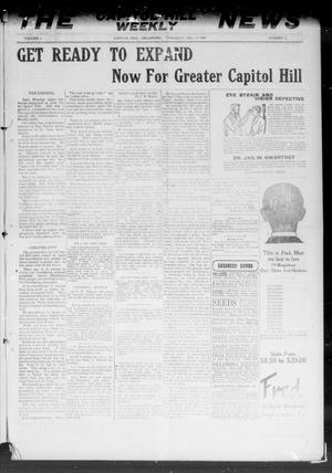 Primary view of The Capitol Hill Weekly News (Capitol Hill, Okla.), Vol. 5, No. 4, Ed. 1 Thursday, October 14, 1909