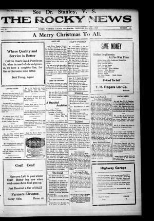 Primary view of The Rocky News (Rocky, Okla.), Vol. 20, No. 26, Ed. 1 Thursday, December 25, 1924
