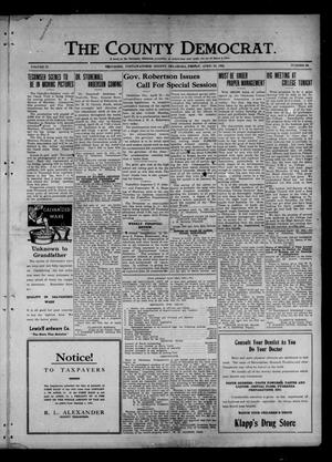 Primary view of object titled 'The County Democrat. (Tecumseh, Okla.), Vol. 27, No. 30, Ed. 1 Friday, April 22, 1921'.