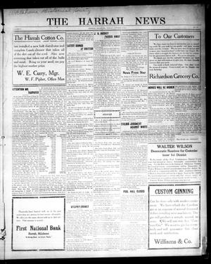 Primary view of object titled 'The Harrah News (Harrah, Okla.), Vol. 5, No. 37, Ed. 1 Friday, October 9, 1914'.
