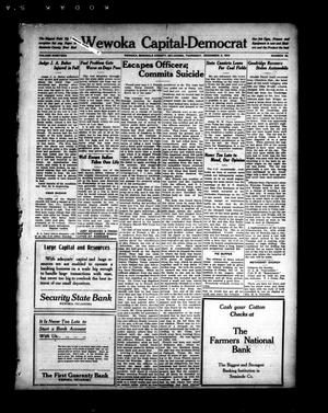 Primary view of object titled 'Wewoka Capital-Democrat (Wewoka, Okla.), Vol. 19, No. 48, Ed. 1 Thursday, December 4, 1919'.