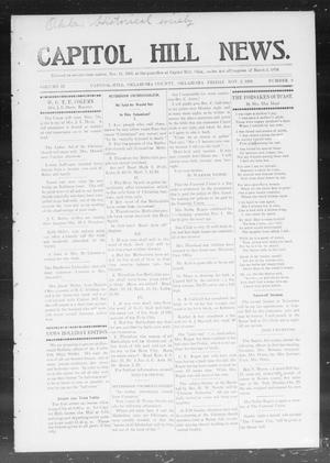 Primary view of object titled 'Capitol Hill News. (Capitol Hill, Okla.), Vol. 2, No. 9, Ed. 1 Friday, November 2, 1906'.