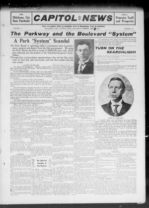 Primary view of object titled 'Capitol Hill News (Oklahoma City, Capitol Hill, Okla.), Vol. 6, No. 27, Ed. 1 Thursday, April 6, 1911'.