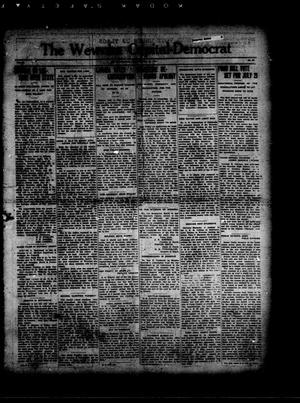 Primary view of object titled 'The Wewoka Capital-Democrat (Wewoka, Okla.), Vol. 17, No. 27, Ed. 1 Thursday, July 12, 1917'.